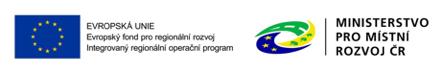 EU - Evropský fond pro regionální rozvoj a MMR ČR